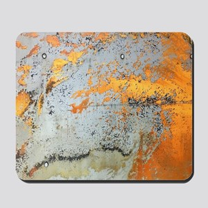 grey yellow metal abstract Mousepad